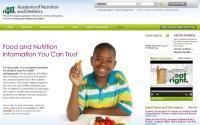Η Αμερικάνικη Ακαδημία Διατροφής και Διαιτητικής Η ιστοσελίδα της Αμερικάνικης Ακαδημίας Διατροφής και Διαιτητικής αποτελεί ένα χρυσό οδηγό για τους επαγγελματίες διαιτολόγους. Περιλαμβάνει πολλές και χρήσιμες πληροφορίες για τη διατροφή του μέσου ατόμου αλλά και ειδικές κατηγορίες ασθενών και μη, blogs, επιστημονική αρθρογραφία κ.α. Ένα πολύ χρήσιμο site για όποιους θέλουν να είναι πάντα ενημερωμένοι στον χώρο της διατροφής.