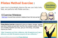 pilates-method-exercise.com: πληροφορίες για άσκηση Pilates Προσφέρει ασκησιολόγιο για pilates, πληροφορίες εκτέλεσης των ασκήσεων (τεχνική), κινησιολογικές πληροφορίες καθώς και πληροφορίες για αγορά εξοπλισμού pilates. Το site δίνει πολύ ενδιαφέρουσες πληροφορίες αλλά είναι στα Αγγλικά. Φαίνεται να ανανεώνεται τακτικά.