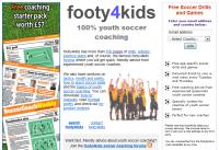footy4kids.co.uk: για την προπόνηση των μικρών σε ηλικία ποδοσφαιριστών Εξαιρετική Αγγλική ιστοσελίδα η οποία είναι αφιερωμένη στην προπόνηση των μικρών σε ηλικία ποδοσφαιριστών. Προσφέρει ασκήσεις ειδικής φυσικής κατάστασης και εκμάθησης τακτικής οι οποίες ανανεώνονται κάθε εβδομάδα, βοήθεια στην προετοιμασία της προπόνησης και πληροφορίες για την ανάπτυξη των νέων αθλητών. Ενδιαφέρουσα σελίδα για νέους αλλά και πιο έμπειρους προπονητές ακαδημιών ποδοσφαίρου.