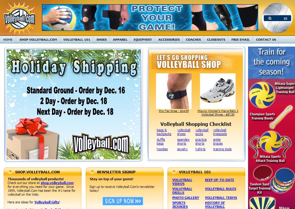 Volleyball.com Πολύ ενδιαφέρον site για τον προπονητή, τον γυμναστή και την ομάδα του βόλεϊ. Μπορείτε να βρείτε οποιοδήποτε είδος αφορά το άθλημα για να αγοράσετε από παπούτσια μέχρι εξοπλισμός και είδη προπόνησης και αποκατάστασης.