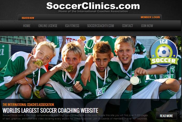 SoccerClinics.com Ένα από τα μεγαλύτερα site με πλούσια περιεχόμενα για την προπόνηση ποδοσφαίρου. Διαθέτει πλούσια συλλογή videos και animations, εξαιρετικές απεικονίσεις τακτικής, εξαιρετικές ιδέες για ακαδημίες ποδοσφαίρου αλλά και πλούσιο υλικό φυσικής κατάστασης. Χρειάζεται ωστόσο συνδρομή και γνώση Αγγλικών. Σας το συνιστούμε.