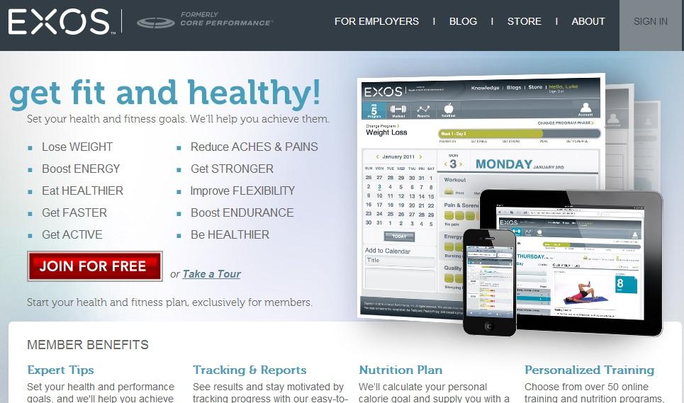 Coreperformance.com Ιστότοπος ο οποίος παρέχει τόσο δωρεάν ενημέρωση όσο και συνδρομητική. Θεωρείται ένας από τους πιο έγκυρους ιστότοπους που σχετίζεται με αρθρογραφία, προϊόντα εξοπλισμού, βιβλία και εκπαιδευτικά DVDs. H επιστημονική υποστήριξη παρέχεται από μια κορυφαία εταιρεία (Athletes' Performance) που ασχολείται με την επιστήμη της άσκησης και κυρίως την αθλητική προπόνηση και την μεγιστοποίηση της. Η αρθρογραφία που είναι διαθέσιμη αφορά σημαντικά θέματα που σχετίζονται με την άσκηση, την πρόληψη τραυματισμών και την διατροφή.