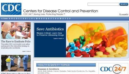 Centers for disease control and prevention Είναι η ιστοσελίδα του κέντρου πρόληψης και ελέγχου νοσημάτων των Η.Π.Α. με πολλά κι ενδιαφέροντα στοιχεία. Γίνονται αναφορές για πολλές παθήσεις και καταστάσεις υγείας με γνώμονα την ενημέρωση και την πρόληψη. Είναι στην αγγλική γλώσσα.