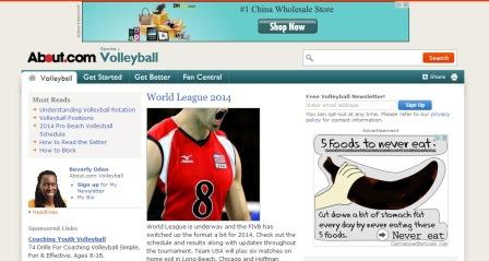 About volleyball.com Στο site αυτό μπορείτε να βρείτε πληροφορίες για όλα τα θέματα που αφορούν στο  άθλημα του βόλεϊ. Παρατίθενται αναλύσεις για την προπόνηση τεχνικής και τακτικής, κανονισμοί του αθλήματος και ειδήσεις. Νομίζουμε πως η περιήγηση σε αυτή τη σελίδα θα σας δώσεις ιδέες για την προπόνησή σας.