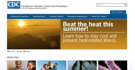 Αμερικάνικο κέντρο ελέγχου και πρόληψης νοσημάτων Είναι η ιστοσελίδα του αμερικάνικου κέντρου ελέγχου και πρόληψης νοσημάτων. Είναι στην αγγλική γλώσσα.