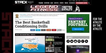 The Best Basketball Conditioning Drills Πολύ καλή ιστοσελίδα για όσους θέλουν να βρουν ασκήσεις φυσικής κατάστασης για τους αθλητές τους. Παρουσιάζει ασκήσεις που συνδυάζουν τεχνική και φυσική κατάσταση, τακτική και φυσική κατάσταση καθώς και συνδυασμούς με βάρη ή προπονητικό εξοπλισμό για μπάσκετ. Οι ασκήσεις δίνονταιμε πολύ καλή περιγραφή και καλές απεικονίσεις. Για αγγλομαθείς