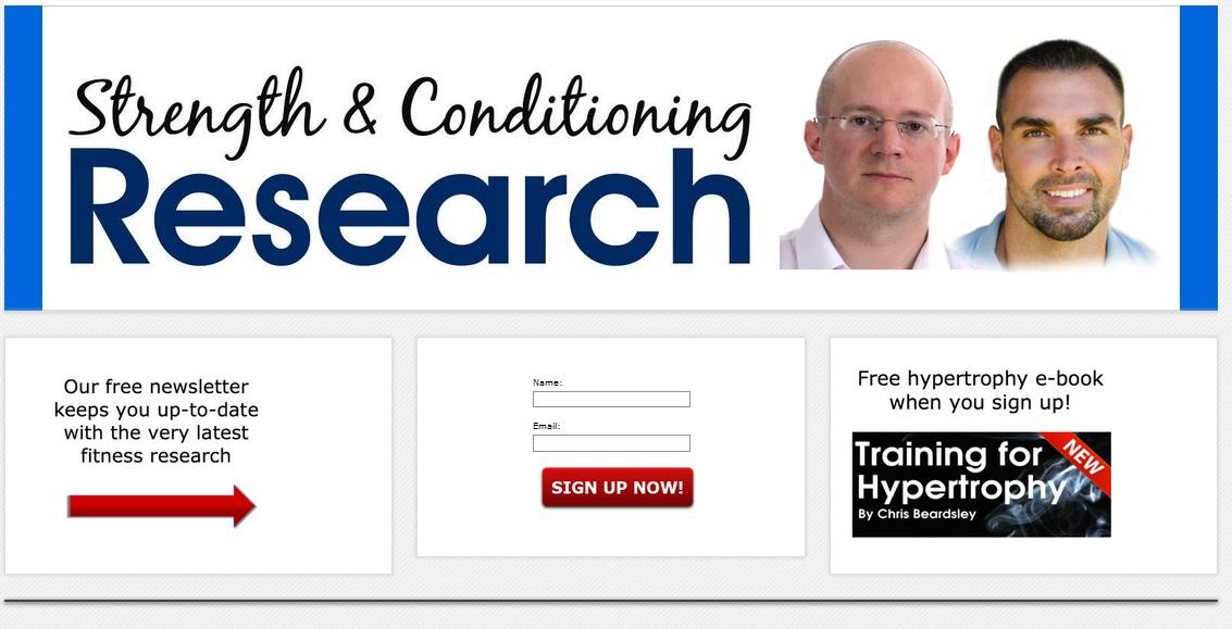 Strength and conditioning.com Μια ιστοσελίδα που παρέχει ενημέρωση και αρθρογραφία τόσο δωρεάν όσο και μέσω μηνιαίας συνδρομής. Ασχολείται αποκλειστικά με ό,τι τελευταίο υπάρχει στην έρευνα σχετιζόμενο με το fitness. Παρουσιάζει συνοπτικά τις πιο επίκαιρες δημοσιευμένες έρευνες με τη μορφή επισκόπησης και ανάλυσης με πολύ κατανοητό και ξεκάθαρο τρόπο. Οι τομείς με τους οποίους ασχολείται είναι η προπόνηση δύναμης και φυσικής κατάστασης, η εμβιομηχανική και κινητικός έλεγχος, η ανατομία, η διατροφή, η φυσιολογία, η φυσικοθεραπεία και η αποκατάσταση. Υπεύθυνοι της ιστοσελίδας είναι 2 Αμερικανοί καταξιωμένοι και παγκοσμίως αναγνωρίσιμοι επιστήμονες (Chris Beardsley, PhD και Bret Contreras, PhD cand., ΜSc, CSCS)