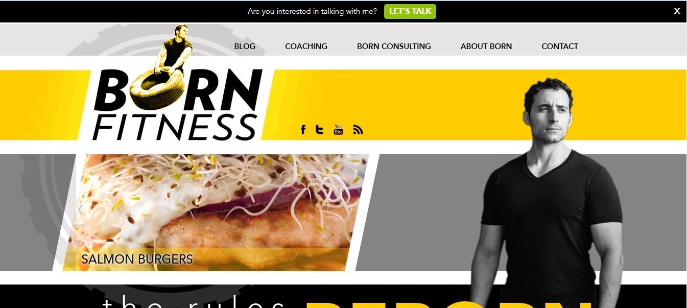 bornfitness.com Ιστοσελίδα που διαχειρίζεται ο Adam Bornstein, πρώην συντάκτης του Men's Health και Livestrong. Ο Adam επιδιώκει να καλύπτει θέματα σχετικά με το χώρο του fitness για τα οποία υπάρχει πάντα μεγάλο ενδιαφέρον από το αναγνωστικό κοινό του διαδικτύου. Ως καλός γνώστης της άσκησης και πάντα συμβουλευόμενος όποτε απαιτείται ειδικούς εμπειρογνώμονες, παρουσιάζει με διαδραστικότητα τη δουλειά του σε μια αντικειμενικώς πολύ καλά σχεδιασμένη και σύγχρονη ιστοσελίδα.