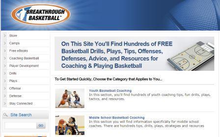 Breakthrough Basketball Σε αυτό το site θα βρείτε εκατοντάδες ασκήσεις, επιθετικά συστήματα, άμυνες και γενικά ότι αφορά το μπάσκετ. Ακόμη υπάρχει ειδική αναφορά στην προπόνηση νεαρών αθλητών. μη διστάσετε να επισκεφτείτε το breakthroughbasketball και να αντλήσετε πληροφορίες που  θα σας κάνουν καλύτερους.