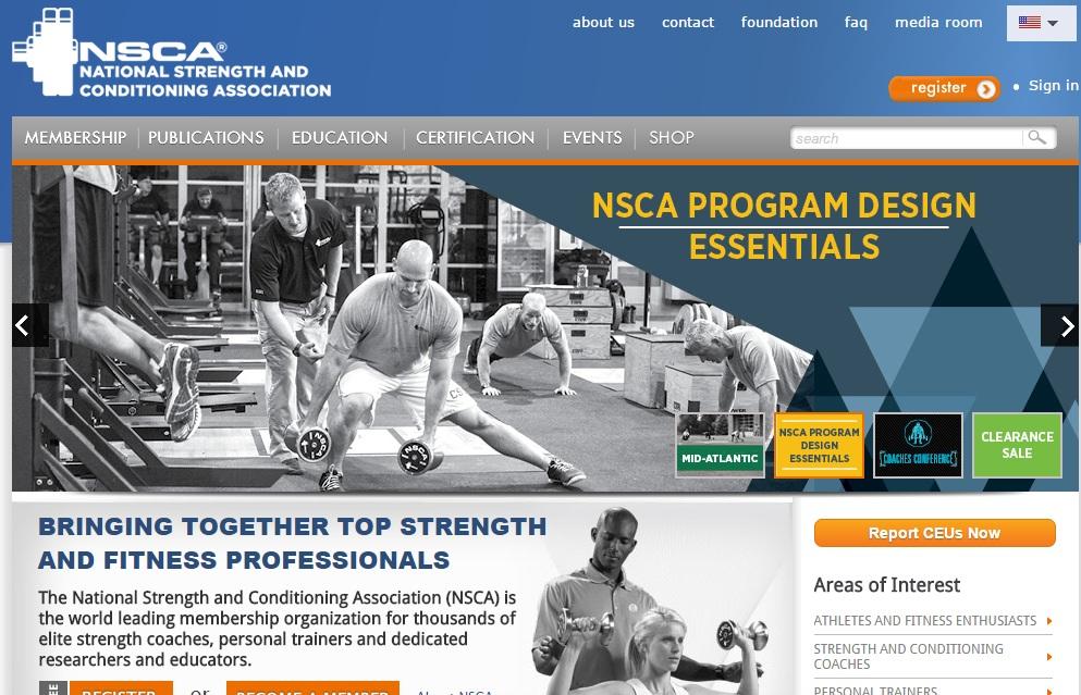 National Strength & Conditioning Association Ο μεγαλύτερος οργανισμός φυσικής κατάστασης διεθνώς. Τα πάντα για μυϊκή ενδυνάμωση, ευκινησία, ισχύ και αντοχή. Χρειάζεται συνδρομή. Οι καλύτεροι αθλητικοί επιστήμονες και προπονητές πάνω στη φυσική κατάσταση είναι εδώ. Η γη της επαγγελίας για όσους ενδιαφέρονται για το performance training και είναι Αγγλομαθείς.
