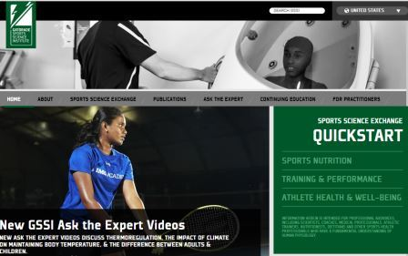 Gatorade Sports Science Institute Ένα εξαιρετικό site για την αθλητική διατροφή. Πρόκειται για την ιστοσελίδα του επιστημονικού κέντρου της ομώνυμης εταιρείας. Θα βρείτε πολλές πληροφορίες επιστημονικές και μη, άρθρα, στρογγυλές τράπεζες, βίντεο και πολλά άλλα που τα επιμελούνται οι καλύτεροι επιστήμονες στον χώρο της αθλητικής διατροφής παγκοσμίως. Χρειάζεται εγγραφή η οποία είναι δωρεάν. Για Αγγλομαθείς.