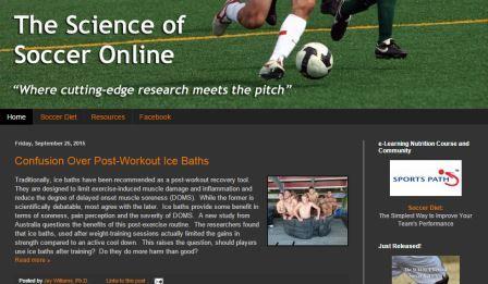 The science of soccer online Μία ακόμη σελίδα αφιερωμένη στην επιστήμη του ποδοσφαίρου. Σχολιάζει νέες ερευνητικές μελέτες για το ποδόσφαιρο ενώ διαθέτει και blog. Είναι για Αγγλομαθείς.