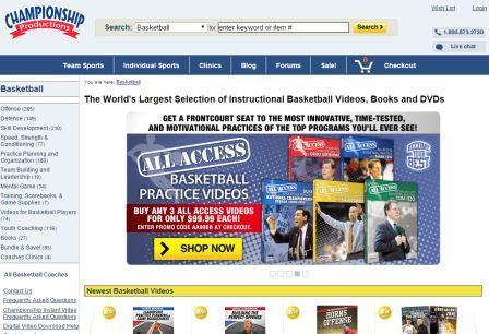 championship productions Ιστοσελίδα η οποία έχει συγκεντρώσει εκπαιδευτικό υλικό από τους καλύτερους προπονητές στο χώρο του μπάσκετ. Αν θέλετε να μάθετε από προπονητές όπως ο Mike Kryzewski και ο Gregg Popovich επισκεφτείτε την ιστοσελίδα αυτή.