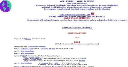 Volleyball World Wide Το Volleyball World Wide, αποτελεί την Παγκόσμια πηγή ενημέρωσης για τον κόσμο του volleyball. Παρέχει πληροφορίες για όλα τα θέματα που αφορούν τον κόσμο του volleyball από τον αρχάριο μέχρι τον επαγγελματία από το σχολείο μέχρι τους Ολυμπιακούς. Δείτε όλο το πρόγραμμα αγώνων παγκοσμίως, ιστορία, κανονισμούς, προπονητική και ασκησιολόγιο.