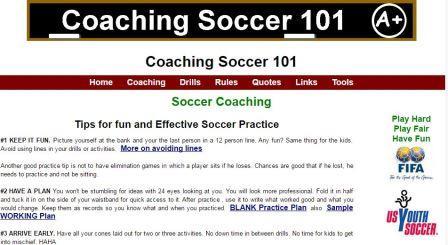 coachingsoccer101 Σχεδιασμένο για προπόνηση ποδοσφαίρου. Είναι εύκολο στην πλοήγηση, εκτυπώσιμες ασκήσεις ποδοσφαίρου για παιδιά και χωρίς συνδρομές. Αυτός ο οδηγός έχει ως στόχο να σας δώσει αρκετή γνώση έως ότου να μπορείτε να πραγματοποιήσετε μια προπόνηση μόνοι σας.