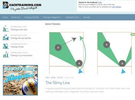 beachtraining Μία ιστοσελίδα που έχει τη μορφή blog, με χρήσιμες όμως ασκήσεις και συστήματα για , 2, 3 ή 4 παίκτες