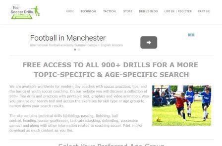 top-soccer-drills Η ιστοσελίδα περιλαμβάνει ασκησιολόγιο ποδοσφαίρου, συμβουλές και βασικές κατευθύνσεις για την προπόνηση νεαρών παικτών ποδοσφαίρου. Θα βρείτε μια συλλογή περισσότερων από 900 δωρεάν ασκήσεων με κείμενο, γραφικές παραστάσεις και βίντεο. Επίσης μπορείτε να χρησιμοποιήσετε το εργαλείο αναζήτησης και να βρείτε ασκήσεις ανάλογα με την ικανότητα που θέλετε να βελτιώσετε ή ακόμα και την ηλικία. Περιλαμβάνονται τεχνικές ασκήσεις (ντρίμπλα, τελείωμα, πάσα, έλεγχος μπάλας, κεφαλιά, ασκήσεις τερματοφύλακα, ασκήσεις τακτικής, επίθεσης, 'άμυνας και κατοχής μπάλας) και πολλές άλλες πληροφορίες που αφορούν την προπονητική ποδοσφαίρου. Εκτυπώστε ή/και κατεβάστε όποιο υλικό θέλετε.