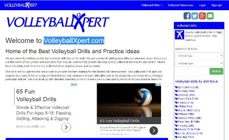 volleyballxpert We are currently working on the top volleyball drill site on the web. We are constantly adding new drills and practice ideas. Below you will find some of our games and exercises that may be used to help players develop quality volleyball techniques and tactics. Please keep checking back for more top volleyball drills, practice ideas, and workouts.  Our drills are fun games that are proven to provide the best training for the fastest skill development. Our volleyball drills give you step-by-step easy to follow setup and instructions. Our variations of each drill allow you to tweak practices to focus on perfecting a particular skill set. We wrap it all up with detailed coaching points to make sure you are getting the most of your practice sessions.