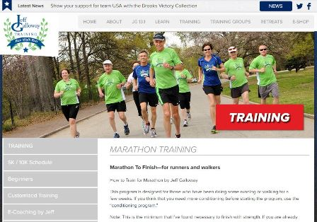 How to Train for Marathon by Jeff Galloway Over a million runners and walkers have read Galloway books, attended his retreats / running schools, received E-coaching or individual consultation or joined his training programs. His doable plans have opened up the life-changing experience of finishing a distance event to almost everyone. His methods have reduced aches, pains and injuries to almost zero. Jeff is in front of an audience motivating and teaching over 200 times a year–helping those of all abilities to enjoy exercise until they are 100!