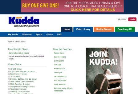 kudda.com Η Kudda ιδρύθηκε με τον απλό στόχο να βοηθήσει τους προπονητές. Αισθανθήκαμε αν γινόντουσαν καλύτεροι προπονητές, αυτοί που θα ωφεληθούν περισσότερο θα είναι οι παίκτες τους. Από το 2007 Kudda υπήρξε η μεγάλη μεγαλύτερη διαδικτυακή πηγή πληροφοριών για τους προπονητές, με πάνω από 5.500 εκπαιδευτικά βίντεο. Πριν την Kudda, οι μόνες επιλογές για τους προπονητές να βελτιώσουν την προπόνησή τους ήταν να πάνε σε ακριβά σεμνάρια ή να αγοράσουν DVD και βιβλία σε υπερβολικές τιμές. Ή σε σπάνιες περιπτώσεις, να συνδεθεί με ένα μεγάλο προπονητή. Το Kudda είναι μια online πηγή βίντεο που δείχνει με ακρίβεια τις κατάλληλες τεχνικές, ασκήσεις και παιχνίδια και η βιβλιοθήκη αυξάνεται συνεχώς. Η βιβλιοθήκη έως τώρα περιλαμβάνει βίντεο για περισσότερους από 15 τομείς που σχετίζονται με τα ομαδικά αθλήματα, τη φυσική κατάσταση, τις πρώτες βοήθειες και την καθοδήγηση. Συνεργαζόμαστε με αναγνωρισμένους σε εθνικό επίπεδο προπονητές για την ανάπτυξη νέου και ουσιαστικού περιεχόμενου σε τακτική βάση.