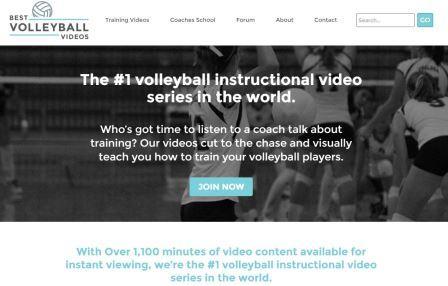 Bestvolleyballvideos Με πάνω από 1.100 λεπτά περιεχομένου βίντεο που είναι διαθέσιμοo για άμεση προβολή, η ιστοσελίδα bestvolleyballvideos.com είναι πλήρως αφιερωμένη στο να παρέχει τεχνική, τακτική και φυσική αγωγή στο υψηλότερο δυνατό επίπεδο. Σκοπός να βοηθήσει τον κάθε παίκτη, ανεξάρτητα από την ηλικία ή την ικανότητά του να επιτύχει τη μέγιστη απόδοση. Στα μείον ότι δεν διατίθεται δωρεάν αλλά με συνδρομή