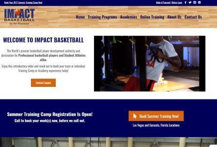 impactbball Ιστοσελίδα σχετικά με την προπονητική του μπάσκετ. Περιέχει ολοκληρωμένα προπονητικά προγράμματα, ατομικά και ομαδικά προγράμματα βελτίωσης και επαγγελματική υποστήριξη προπόνησης φυσικής κατάστασης. Μια επιπλέον δυνατότητα της ιστοσελίδας αποτελεί η εξ' αποστάσεως προπόνηση. Το site επικεντρώνεται στον συνδυασμό προπόνησης δεξιοτήτων του μπάσκετ, της φυσικής κατάστασης, του διατροφικού προγραμματισμού και της ψυχολογικής προετοιμασίας με σκοπό να οδηγήσει τους αθλητές μπάσκετ στην επιτυχία.