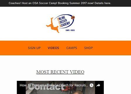 online soccer academy Ιστοσελίδα που περιέχει πάνω από 200 βίντεο ασκήσεων και τεχνικών στοιχείων στο ποδόσφαιρο. Περιέχει επίσης και ηλεκτρονικό κατάστημα αγοράς αξεσουάρ προπόνησης.