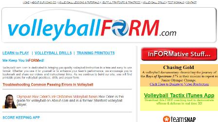 volleyballform To VolleyballForm.com είναι αφιερωμένο στο να φέρνει την ποιότητα διδασκαλίας βόλεϊ σε μια ελεύθερη και εύκολη στη χρήση μορφή. Είτε θέλετε να το χρησιμοποιήσετε για τον εαυτό σας ή για να ενισχύσετε την απόδοση της ομάδας σας, σε αυτή την ιστοσελίδα θα βρείτε εκτυπώσιμα σχέδια για τις πρακτικές και τα τεχνικά χαρακτηριστικά του βόλεϊ.
