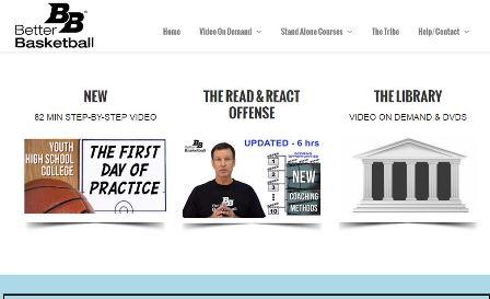 betterbasketball  Ιστοσελίδα που περιέχει πλούσια βίντεο με ασκήσεις και τεχνικές, μπάσκετ για όλα τα επίπεδα. Για τις περισσότερες παροχές τις ιστοσελίδας απαιτείται εγγραφή.