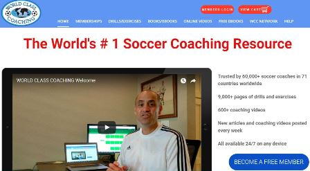 worldclasscoaching.com/online soccer academy Ιστοσελίδα που περιέχει πάνω από 9000 ασκήσεις και πρακτικές προπόνησης. Πάνω από 600 προπονητικά βίντεο και καινούργια άρθρα στον τομέα του ποδοσφαίρου. Μερικές υπηρεσίες παρέχονται με πληρωμή.