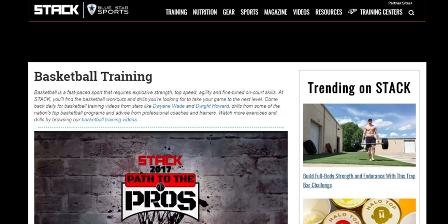 stack Η ιστοσελίδα Stack είναι ένα site όπου κάθε προπονήτης/αθλητής πρέπει να γνωρίζει και να ενημερώνεται για οτιδήποτε έχει σχέση με την φυσική κατάσταση . Περιέχει video από  κορυφαίους προπονητές του Strength and Conditioning μοιράζοντας τα 'μυστικά' τους και διάφορες ασκήσεις τους. Επίσης έχει αποσπάσματα από προπονήσης top αθλητών και ομάδων που αγωνίζονται στο NBA.