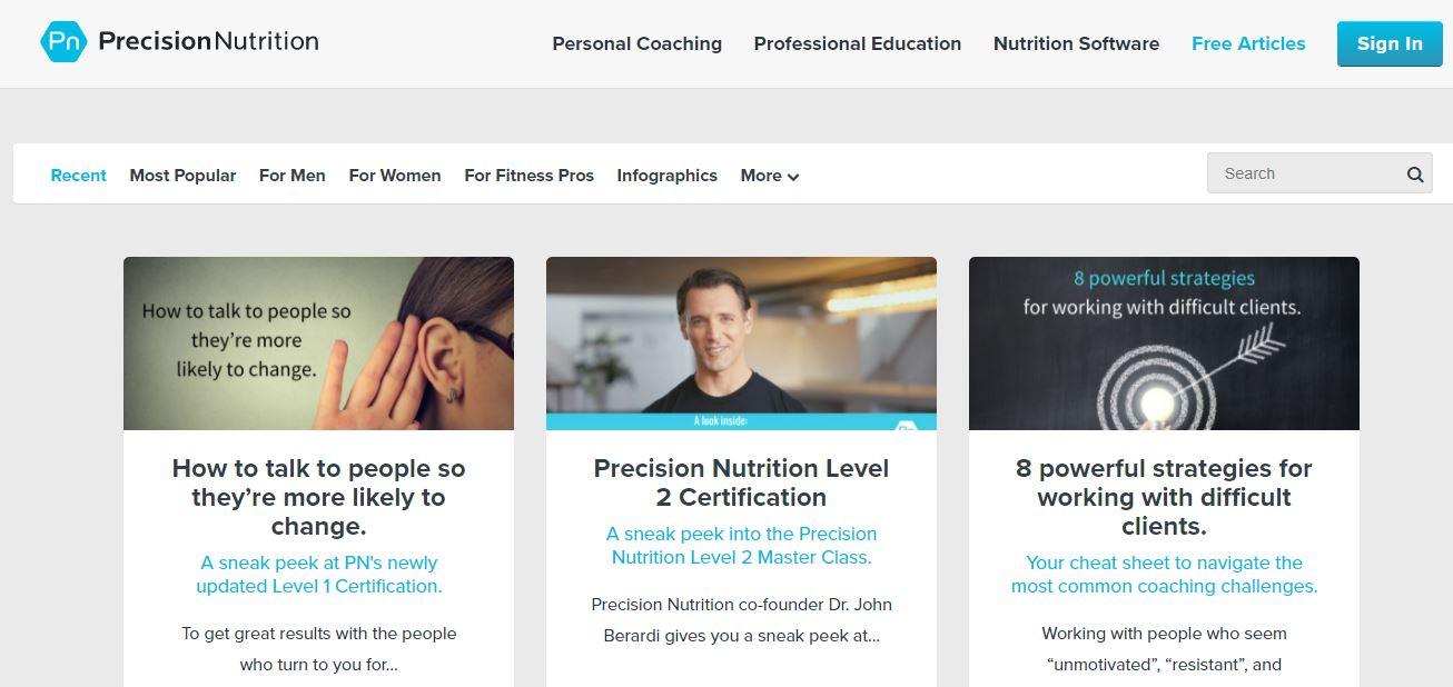 precisionnutrition Η ομάδα Precision Nutrition περιλαμβάνει κορυφαίους ειδικούς στους τομείς της διατροφής, της φυσικής κατάστασης και της ανθρώπινης απόδοσης. Εκτός από την προσφορά έρευνας με βάση τη διατροφή και την προπόνηση, η ομάδα γράφει επίσης σε ένα εξαιρετικό blog γεμάτο συμβουλές για την προπόνηση και την καλή διατροφή