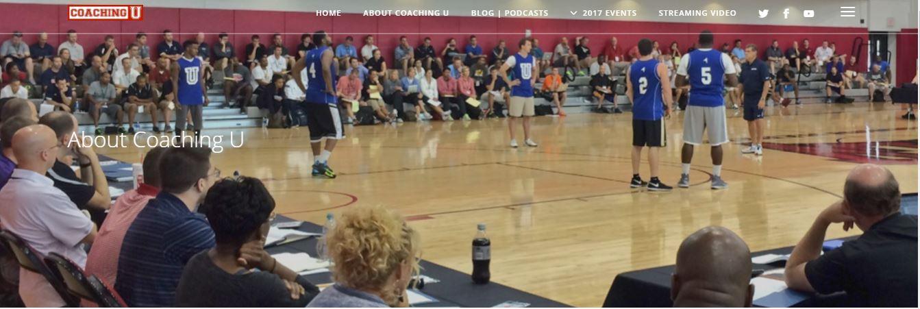 coachingulive Το coaching U LIVE είναι ανοιχτό σε όλους, συμπεριλαμβανομένων των προπονητών από το κολλέγιο μέχρι το NBA. Το Coaching U LIVE είναι το μεγαλύτερο μέρος πληροφοριών που προσφέρονται σε ένα μέρος. Προσφέρει ομιλίες και προπονήσεις σε βίντεο από τους καλύτερους αθλητές και ομάδες στην Αμερική και στον κόσμο