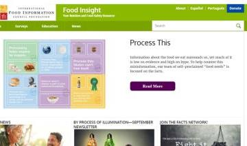 foodinsight Το διεθνές συμβούλιο ενημέρωσης τροφίμων παρέχει πληροφορίες σχετικά με τρόφιμα και διατροφικά στοιχεία καθώς και τελευταίες εξελίξεις στην βιομηχανία της διατροφής.