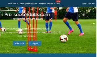 pro-soccerdrills Ιστοσελίδα που περιέχει πλούσιο ασκησιολόγιο για ασκήσεις τακτικής, τεχνικής και φυσικής κατάστασης στο ποδόσφαιρο. Επίσης, περιέχει βίντεο με ανάλυση παιχνιδιού και βιβλία με θεματολογία το ποδόσφαιρο. Δεν απαιτείται εγγραφή.