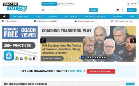 soccertutor.com site που περιέχει πλούσιο ασκησιολόγιο για ασκήσεις τακτικής, τεχνικής και φυσικής κατάστασης στο ποδόσφαιρο. Επίσης, περιέχει βίντεο με ανάλυση παιχνιδιού και βιβλία με θεματολογία το ποδόσφαιρο. Δεν απαιτείται εγγραφή.
