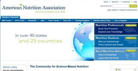 american nutrition association Η επίσημη ιστοσελίδα της αμερικανικής ένωσης διατροφής που προσφέρει πολύτιμες πληροφορίες διατροφής σχετικά με την υγεία και την αντιμετώπιση ασθενειών.