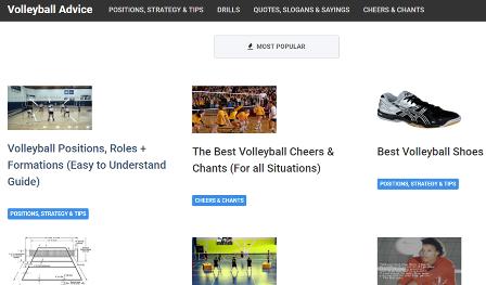 Volleyballadvice Ο ιστότοπος μπορεί να σας διδάξει τα βασικά στοιχεία του βόλεϊ εάν ξεκινάτε τώρα ή να σας μεταφέρει πιο προχωρημένες τεχνικές. Διαθέτοντας εύκολα κατανοητούς πόρους, δίνει πληροφορίες σχετικά με την τοποθέτηση, τους σχηματισμούς, τις αλλαγές κ.α.